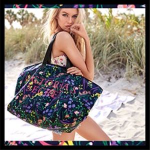 NEW! Victoria's Secret Canvas Floral Tote NIP